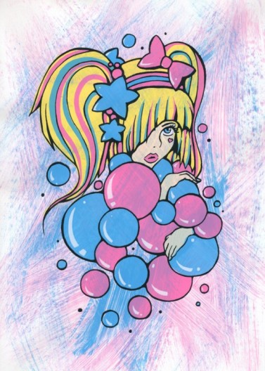 Bubble Girl, 2012, 6-colour Screenprint