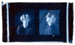 Untitled, 2012, Cyanotype on cloth